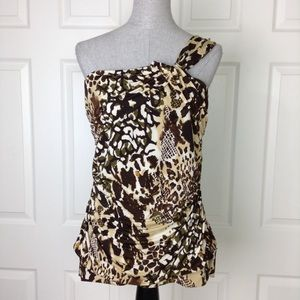 Torrid Animal Print One Shoulder Top SZ 1 (14/16)